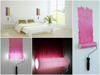 Paint roller lamp