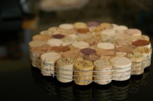 Trivet with wine corks!