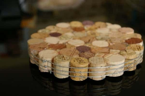 Trivet with wine corks! in wood corks accessories  with Wine trivet Table Corks
