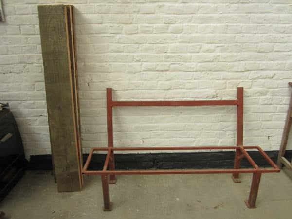 IMG 0202 600x450 Industrial bench with reclaimed beechwood in wood furniture diy  with Wood / organic Upcycled Recycled Bench 