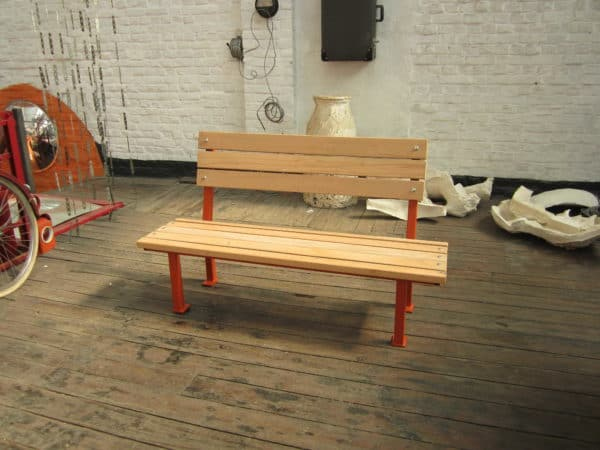 IMG 0267 600x450 Industrial bench with reclaimed beechwood in wood furniture diy  with Wood / organic Upcycled Recycled Bench 