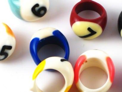 Billiard balls rings