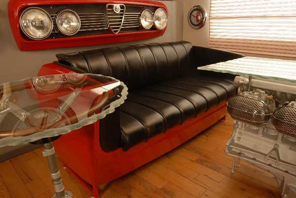 Automotive Furniture Mechanic & Friends Recycled Furniture Recycling Metal