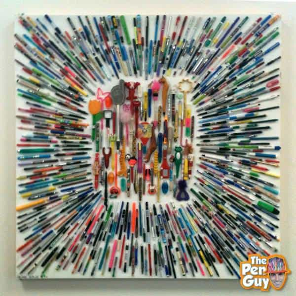 Recycle Pen Art The Pen Guy Costas Schuler Penting warp speed 238 600x600 The Pen Guy on a Quest to Collect a Million Used Pens to Make Murals in art plastics with Recycled Art Recycled Plastic Automotive