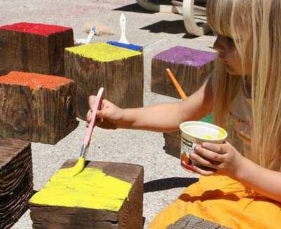 Diy: Giant Wooden Blocks Do-It-Yourself Ideas Wood & Organic