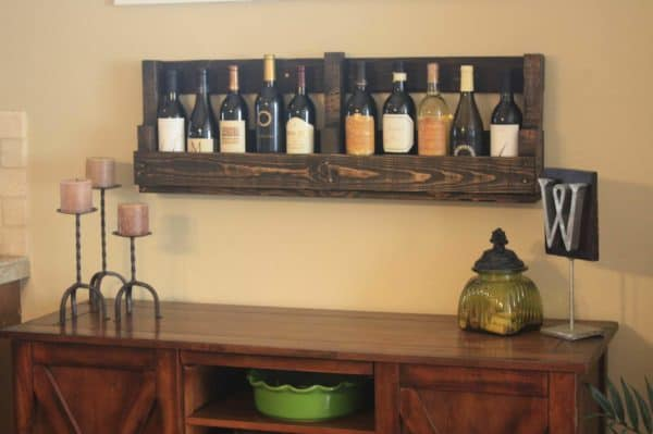 DIY : Pallet wine rack in pallets 2 furniture diy  with Wine rack Pallets