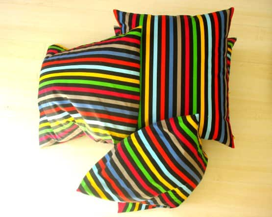 Pillows to seat made from old curtains in accessories  with trendy Recycled Art Recycled Polish original Handmade design