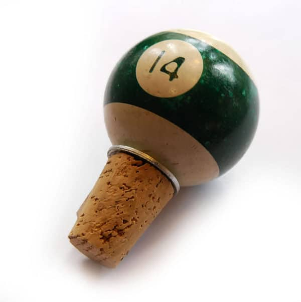 pool bottle01 600x601 Upcycled Pool Ball Bottle Stopper in accessories  with pool Bottle Billiard 