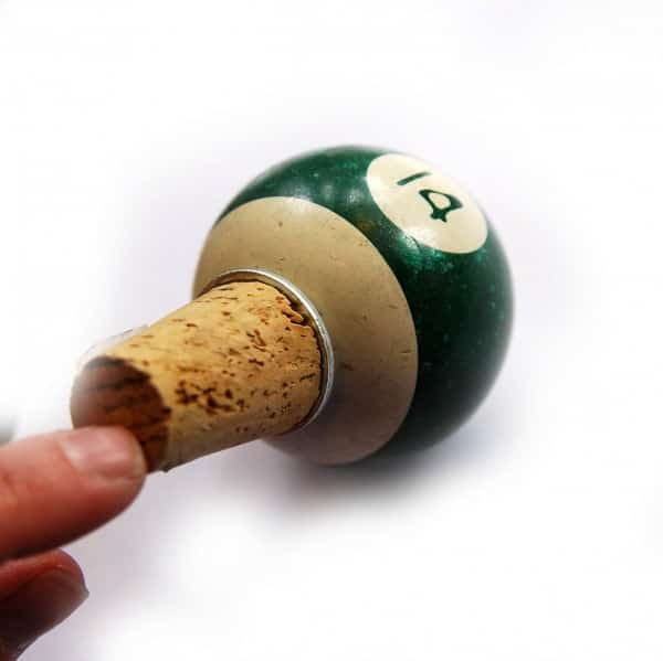 Upcycled Pool Ball Bottle Stopper in accessories  with pool Bottle Billiard