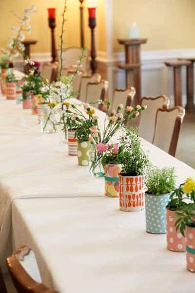 tin can wrapped Tin cans as decoration in social metals diy  with Wedding tin can Paper &amp; Books Flower Decoration 