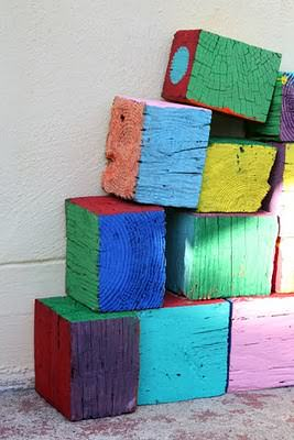 DIY: giant wooden blocks