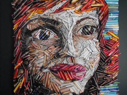 Recycled magazine art