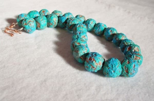 Recycled paper beads necklace Accessories Upcycled Jewelry Ideas