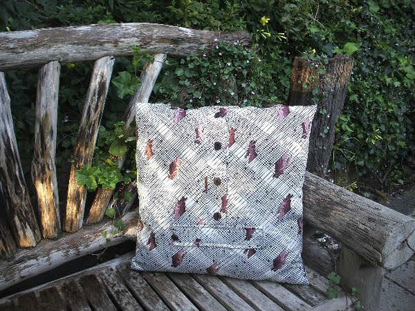 Dress 4 Success Cushion in fabric accessories  with Upcycled refashion Fabric