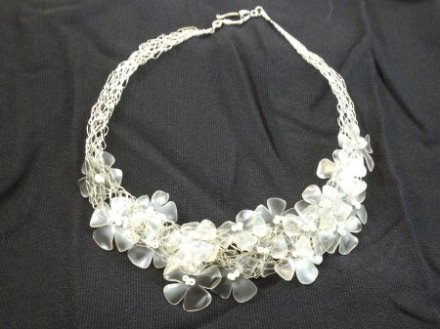 Recycled plastic bottles necklace