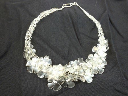 25 09 2012 06 48 36 Recycled plastic bottles necklace in plastics jewelry accessories  with Plastic Necklace Jewelry