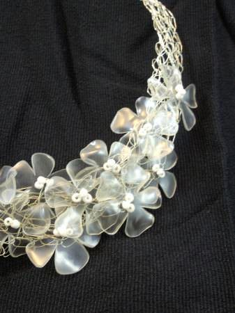 Recycled Plastic Bottles Necklace Recycled Plastic Upcycled Jewelry Ideas