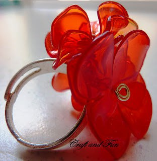 Anello in pet 4 Ring from plastic bottle in plastics jewelry accessories  with Recycled Plastic Jewelry DIY 