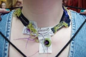 Tags ?? Necklace ?? Oh ! Necklace made of tags!