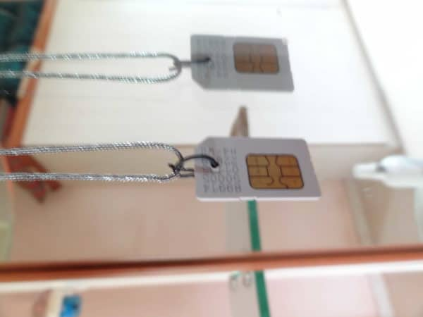Sim Card Pendant Accessories Do-It-Yourself Ideas Recycled Electronic Waste