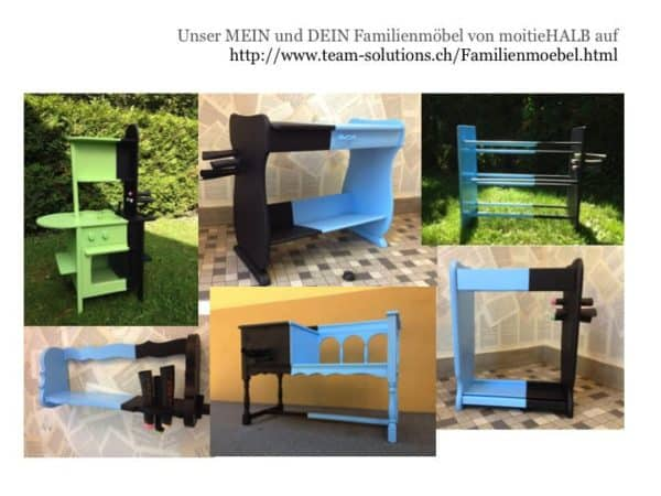 Folie18 600x450 MINE & YOURS – a creative family furniture in furniture diy  with rack Painting Kid Furniture Bench Antique