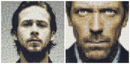 Dr house, Ryan Gosling (and more) keyboard portraits