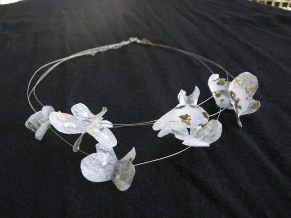 Necklace made with recycled plastic bags Accessories Recycled Plastic Upcycled Jewelry Ideas