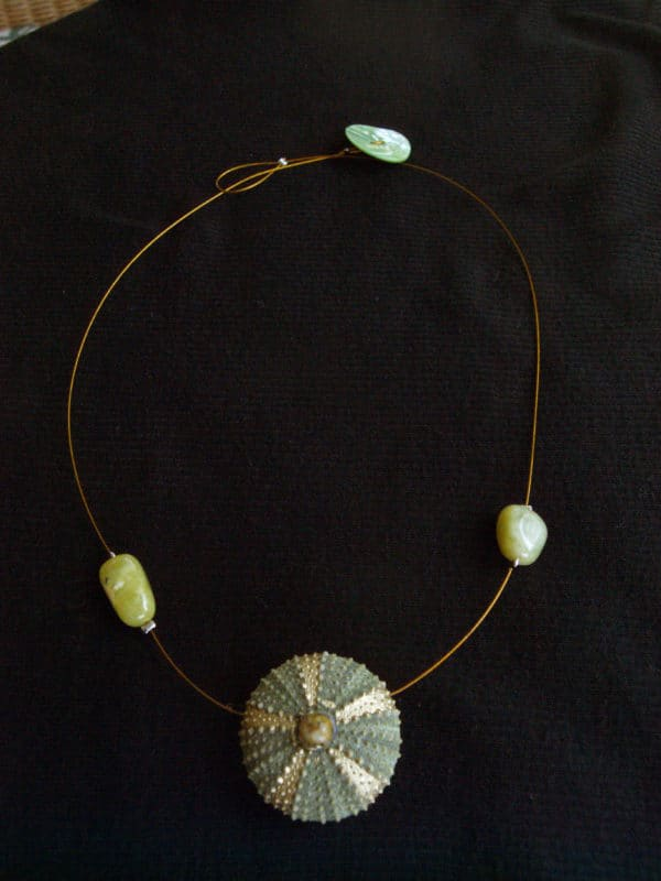 P1010573 600x800 Necklace with sea urchin! in jewelry accessories  with Necklace Jewelry