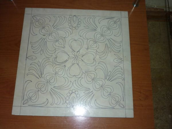 Design on leftover Tile  in glass diy  with tile Reused Painting