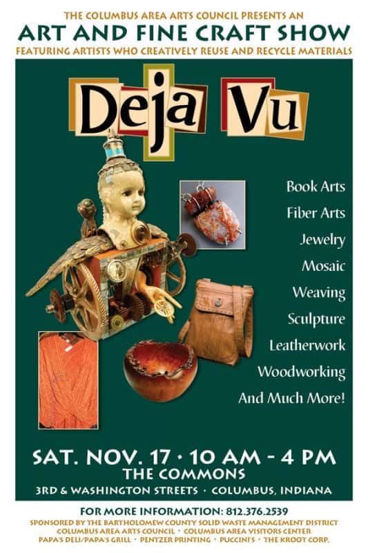 Déjà Vu Art and Fine Craft Show in art  with Wool Wood weaving Upcycled sustainable Stone Sculpture Reused Repurposed Recycled Art Recycled mosaic Metal Jewelry environment Craft Cans Assemblage