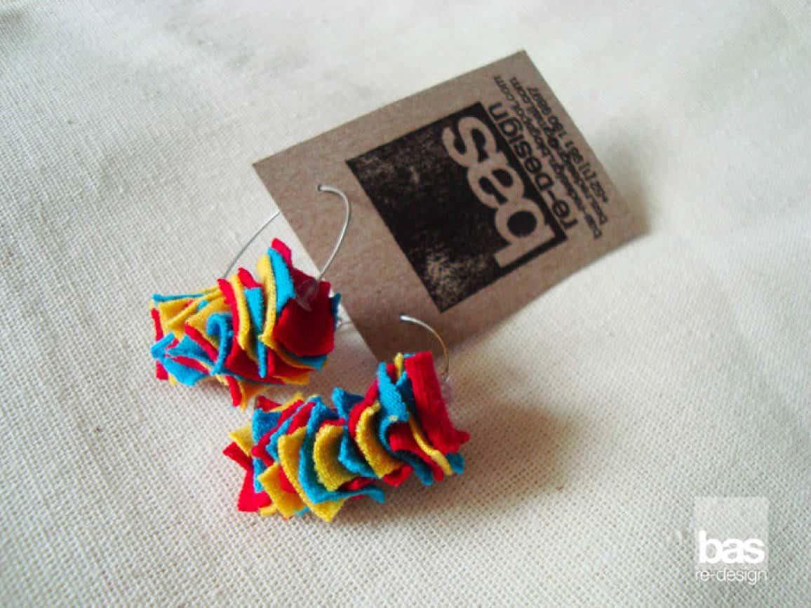Fabric scraps jewelry