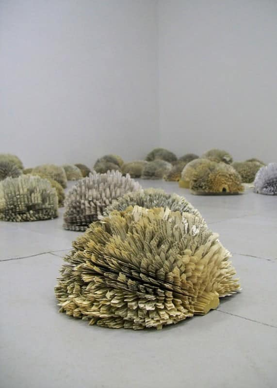 Forest: Lungs of the World in paper art  with installation Books
