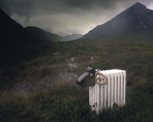 highlands sheep 600x480 Radiator Sheep in art  with Sculpture Recycled reclaimed mixed media Animal