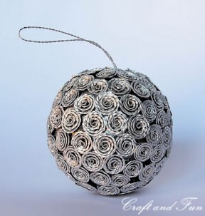 Christmas decoration made from recycled Nespresso coffee capsules