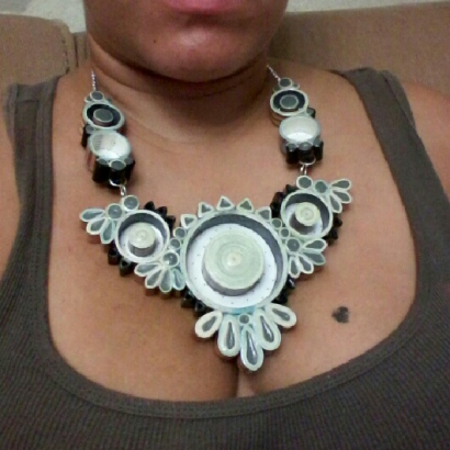 """Paper Necklace or as I call it """"Paper Plywood"""""""