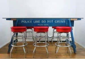Police barrier table