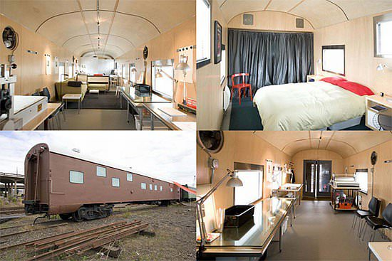 train car 1 Ncpm7 69 1949 sleeper car converted into luxurious home in social architecture  with train House Appartment