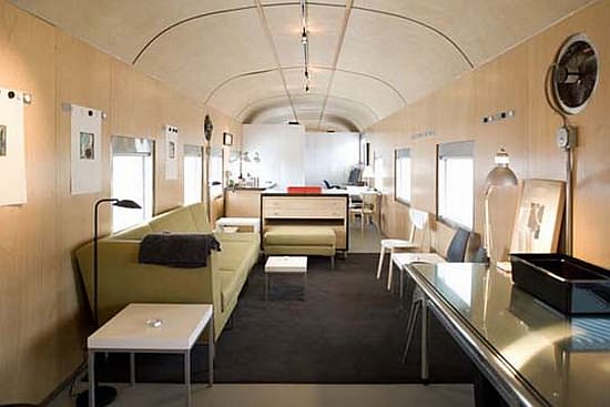 1949 sleeper car converted into luxurious home in social architecture  with train House Appartment