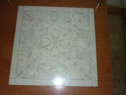 Design on leftover Tile
