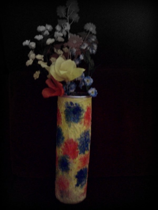 A Waste Metal Tin Into A Flower Vase in metals diy  with Tin Metal Flowers