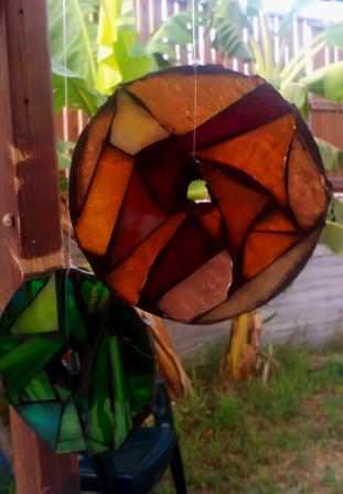 20120907 180945 1 Mosaic glass with recycled CDs in glass electronics art  with Glass CD