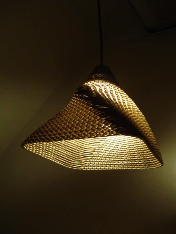 DSC00027 600x800 RE BORN pendant lamp in lights cardboard  with pendant Light Lamp Cardboard 