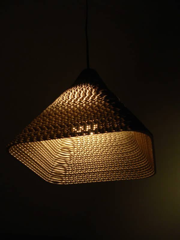 RE BORN pendant lamp in lights cardboard  with pendant Light Lamp Cardboard