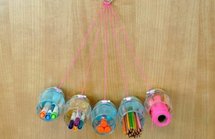 DIY Hanging Craft Organizer