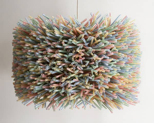 15 Ideas of How to Recycle Plastic Straws Artistically in plastics lights  with Straw Plastic