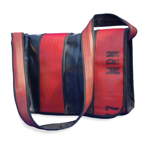 Hosewear messengerbag Bags from recycled firehose in accessories  with firehose Bags