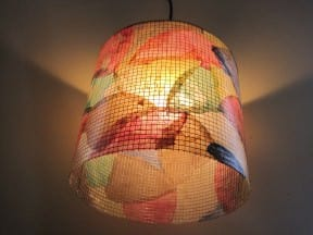 Fall Foliage and Lighting with Recycled Coffee Filters