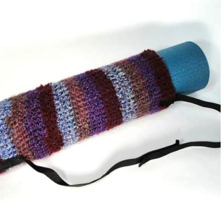 Reclaimed Yarn Yoga Mat Bag