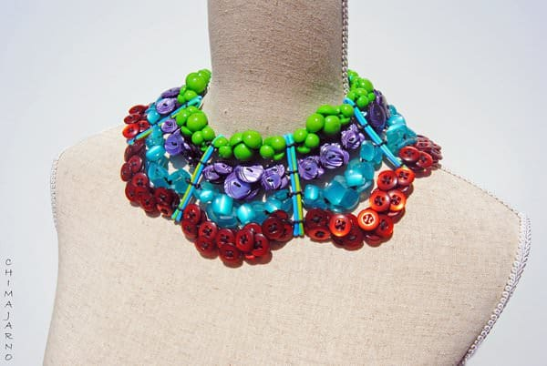 Aggregation of buttons: Pigmenti d'angelo Accessories Upcycled Jewelry Ideas