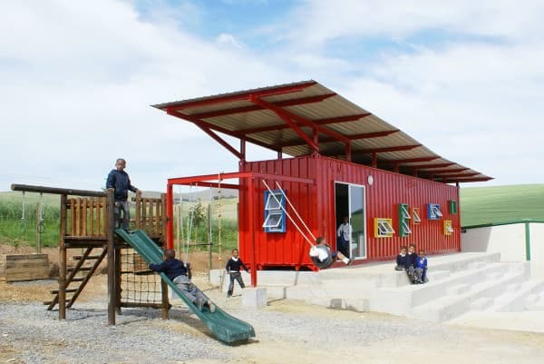 Container Reused As A School Home Improvement